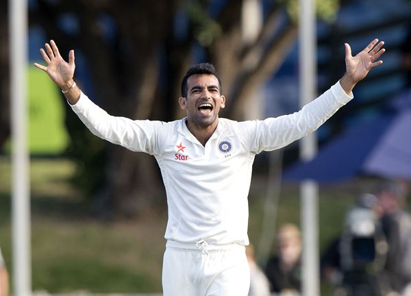 Zaheer Khan (Photo credit should read Marty Melville/AFP/Getty Images)