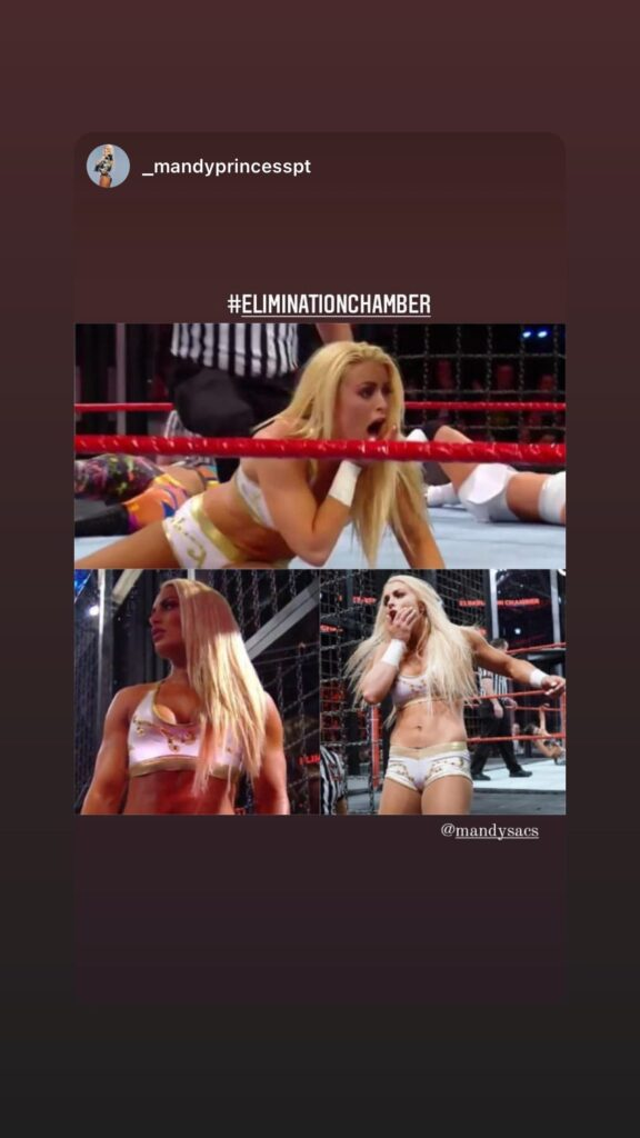 Mandy Rose Shares Pictorial Messages After Missing WWE Elimination Chamber 2021 3
