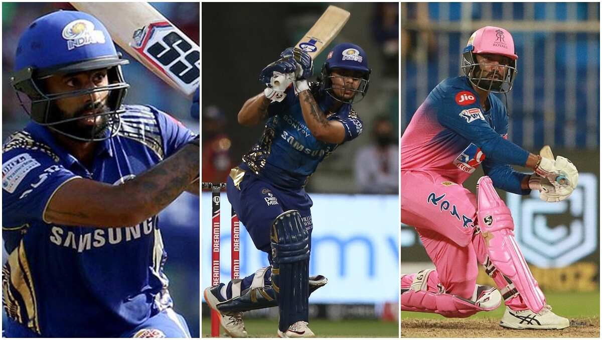 From left: Suryakumar Yadav, Ishan Kishan and Rahul Tewatia were on Saturday named in India's 19-man squad for the five-match T20 series against England.