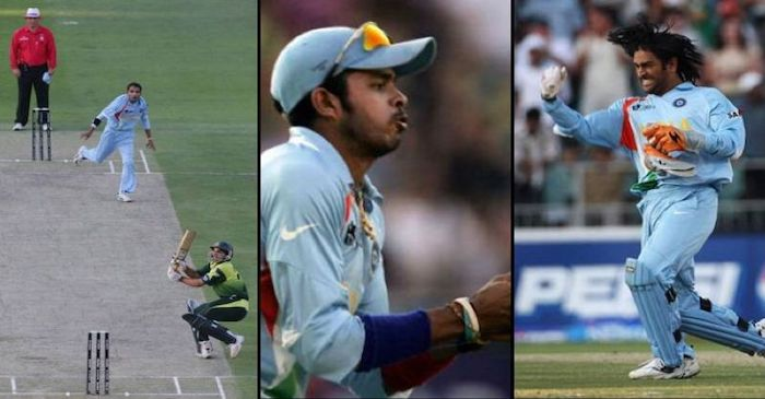 S Sreesanth Taking A Catch As India Won 2007 T20I WC Pic Source: T20 World Cup