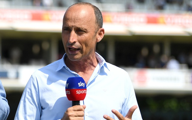Nasser Hussain. (Photo by Gareth Copley/Getty Images)