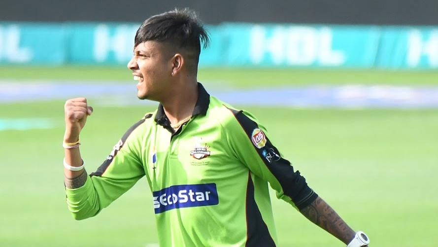 Sandeep Lamichhane took 4-10 from his four overs to set Lahore Qalandars up for victory. Courtesy PCB Sandeep Lamichhane took 4-10 from his four overs to set Lahore Qalandars up for victory. Courtesy PCB