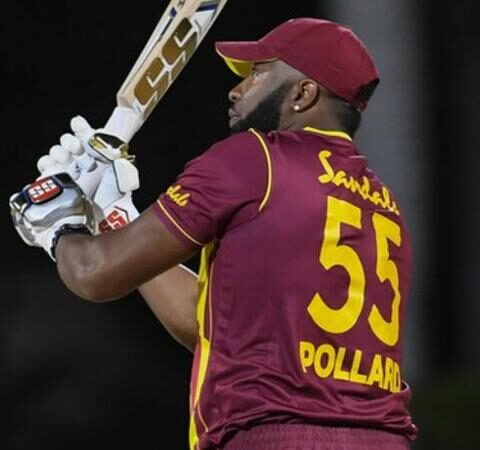Kieron Pollard joined Herschelle Gibbs and Yuvraj Singh in hitting six sixes in an international