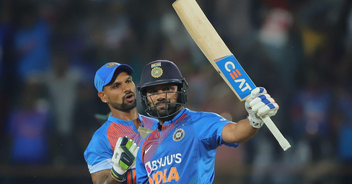 File image of Indian cricketers Shikhar Dhawan [L] and Rohit Sharma | Sportzpics for BCCI
