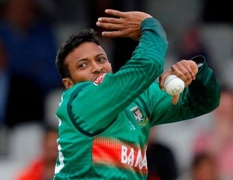 Shakib Al Hasan Photograph: Adrian Dennis/AFP/Getty Images