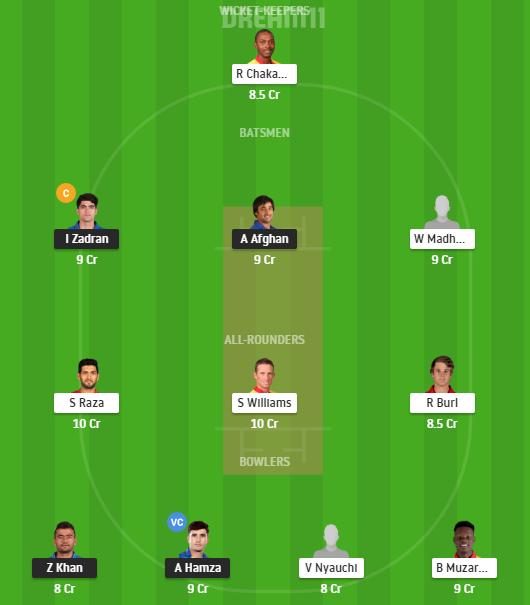 Afghanistan, Zimbabwe, 2nd Test, Fantasy Cricket, Afghanistan vs Zimbabwe