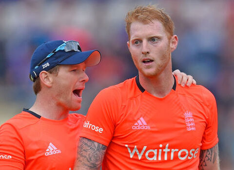 Eoin Morgan and Ben Stokes -Getty
