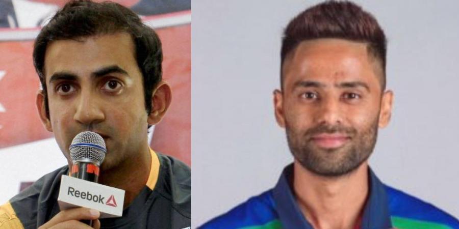 Former India opener Gautam Gambhir (L) and batsman Suryakumar Yadav (Photo| Twitter and PTI)