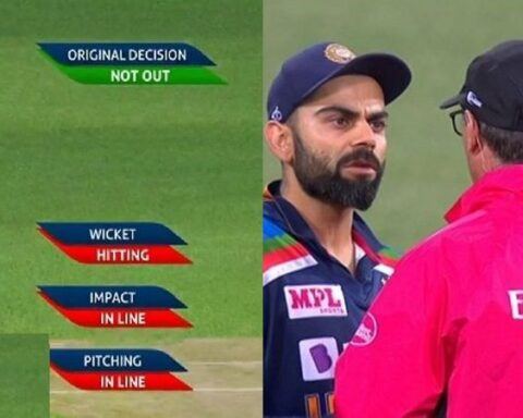Was Virat Kohli too late to take the DRS call? | Photo - Video grab |