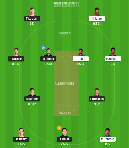 New Zealand, Bangladesh, New Zealand vs Bangladesh 2021, 2nd ODI, Fantasy Cricket