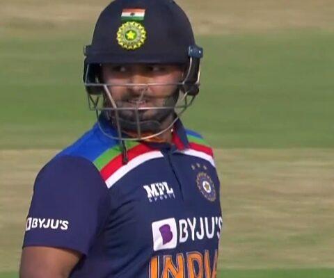 Rishabh Pant vs England in 2nd ODI(Photo Source: Disney+Hotstar VIP)