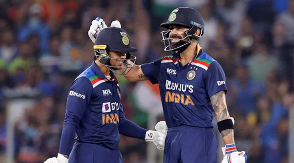 Ishan Kishan and Virat Kohli added 94 runs in 9 overs for the 2nd wicket in the 2nd T20I (Reuters Photo)