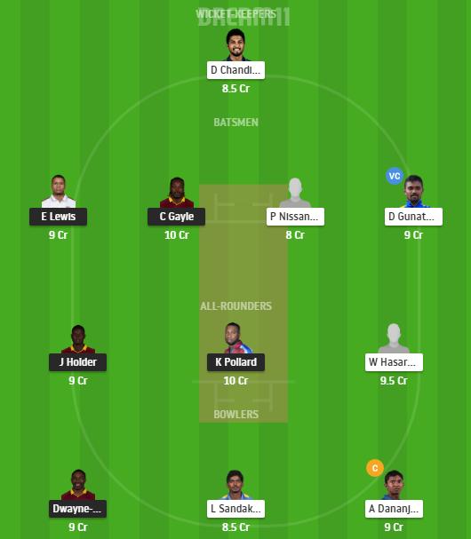 West Indies, Sri Lanka, West Indies vs Sri Lanka, 3rd T20I, Fantasy Cricket