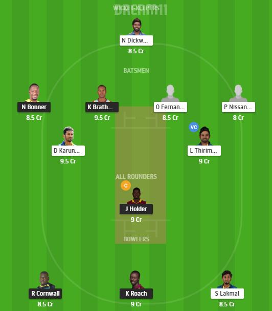 West Indies, Sri Lanka, 2nd Test, West Indies vs Sri Lanka, Fantasy Cricket