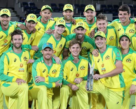 Andrew Reid Andrew Reid 3 December 2020·3-min read The victorious Aussie ODI squad are pictured here celebrating their series win against India. The Aussies claimed the ODI series against India amid a bitter feud between Cricket Australia and Channel Seven. Pic: Getty