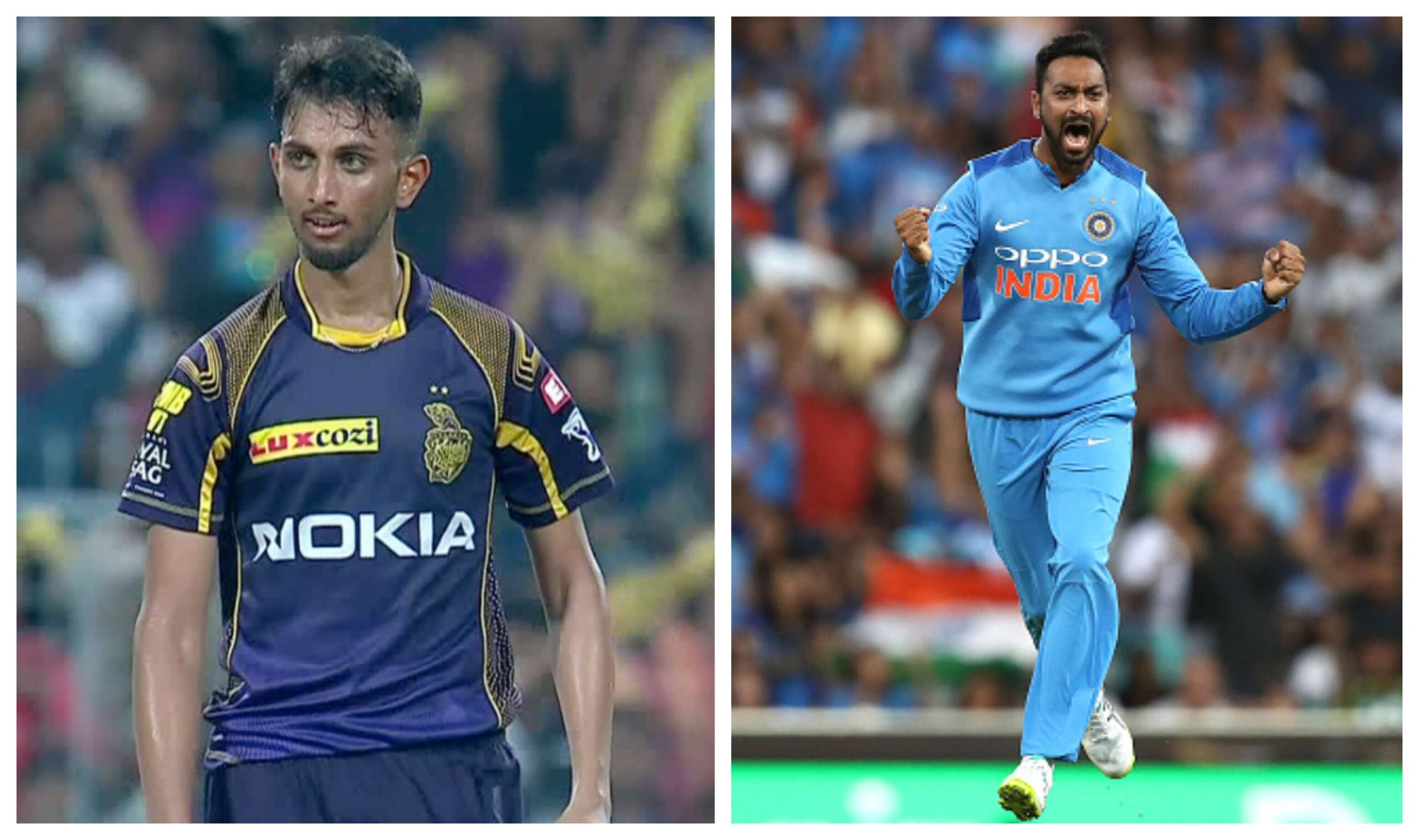 Prasidh Krishna and Krunal Pandya | BCCI/Getty