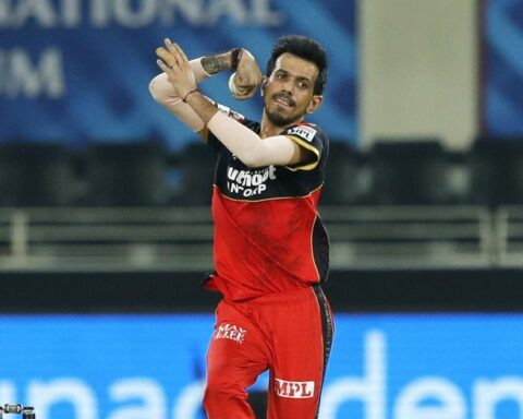 RCB leg-spinner Yuzvendra Chahal in action during IPL 2020 | Saikat Das / Sportzpics for BCCI