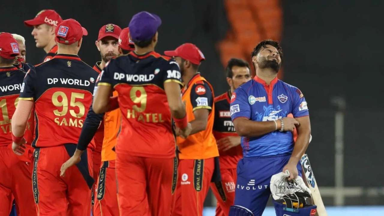 Heartbroken Rishabh Pant after he hit a four off the last ball when DC needed 6 runs | Photo: BCCI / IPL