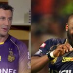 David Hussey, Andre Russell (Image Source: Twitter)