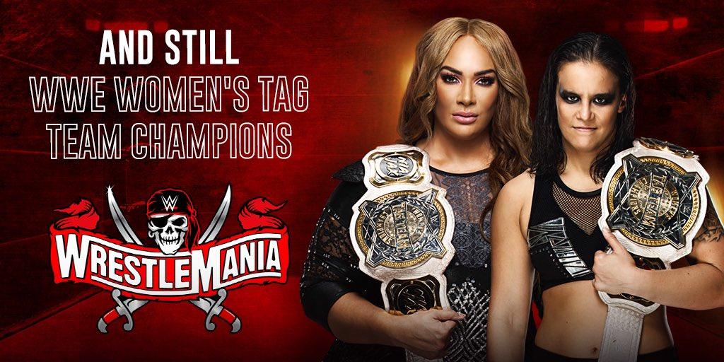 WrestleMania 37.Nia Jax and Shayna Baszler vs. Natalya and Tamina