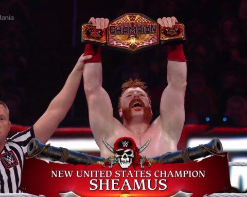 WrestleMania 37. Riddle vs. Sheamus