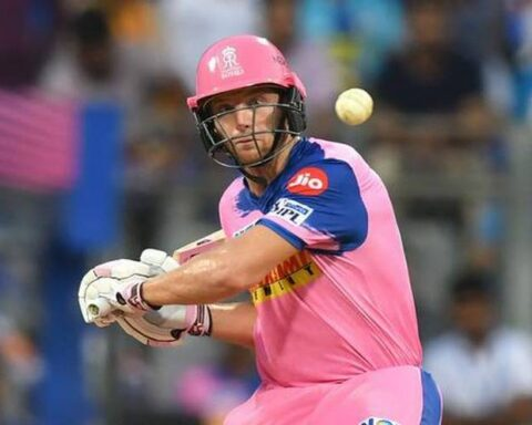 Rajasthan Royals wicketkeeper-batsman Jos Buttler in action in IPL 2019. - AFP