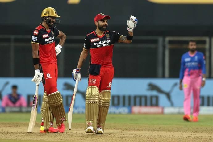 RCB openers Virat Kohli and Devdutt Padikkal put on a 150+ run partnership against RR in Mumbai on Thursday. – BCCI/IPL