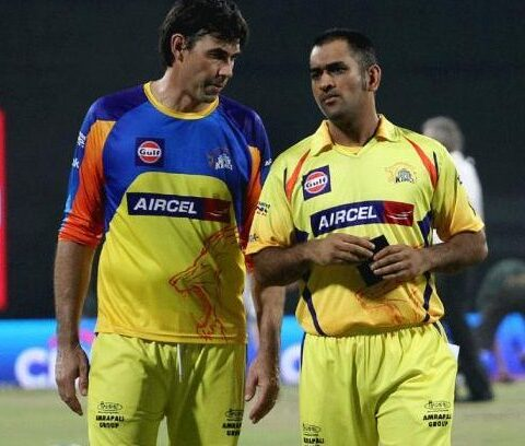 Stephen Fleming and MS Dhoni (Photo Source: Twitter)