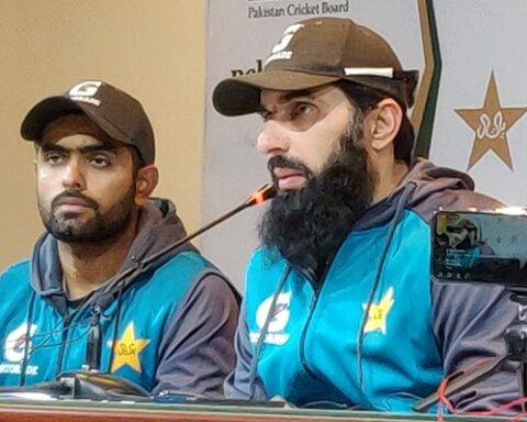 Misbah-ul-Haq and Babar Azam. (Photo Source: Twitter)