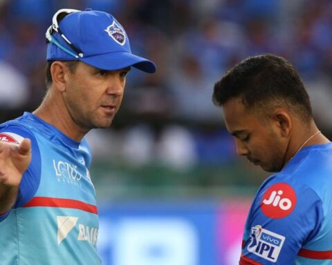 Ricky Ponting been working with Prithvi Shaw for the past two seasons in the Delhi Capitals camp Courtesy: BCCI