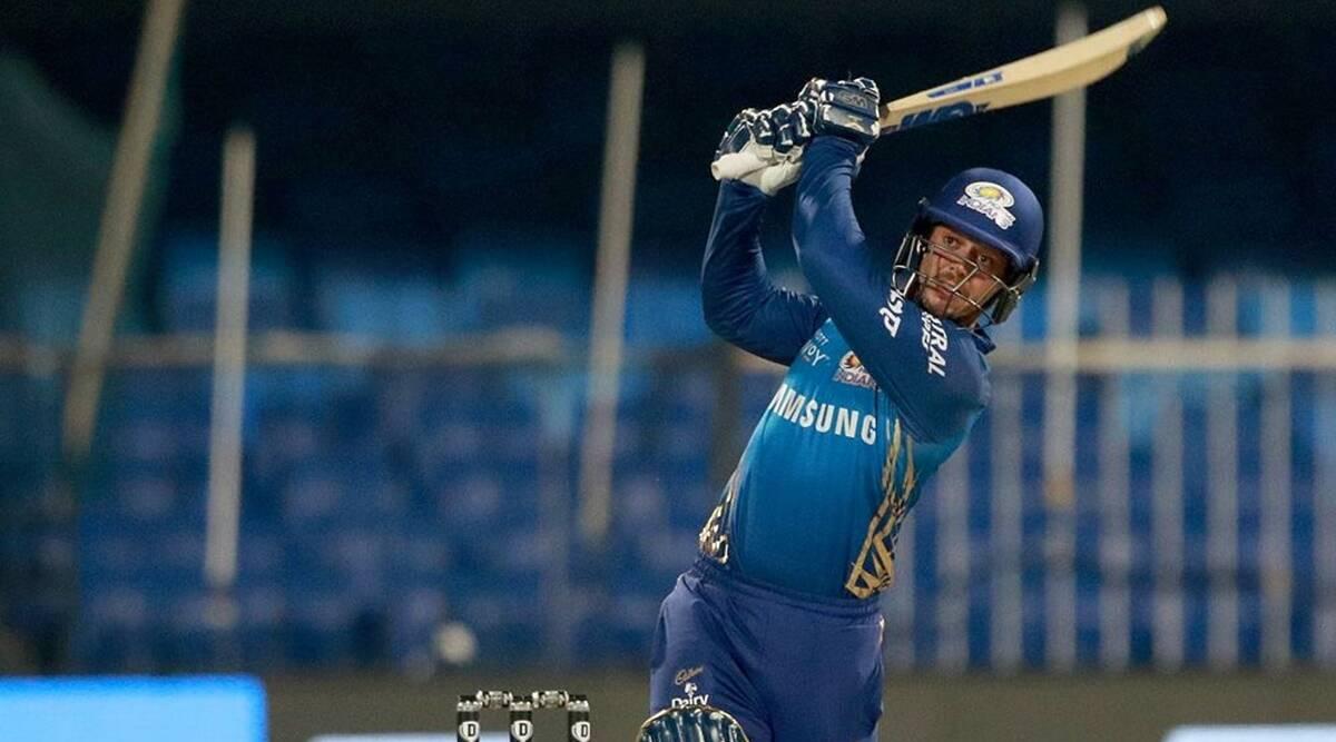 Quinton de Kock of Mumbai Indians plays a shot. (BCCI/IPL)