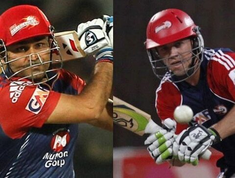 Virender Sehwag and AB de Villiers. (Image Source: Twitter)