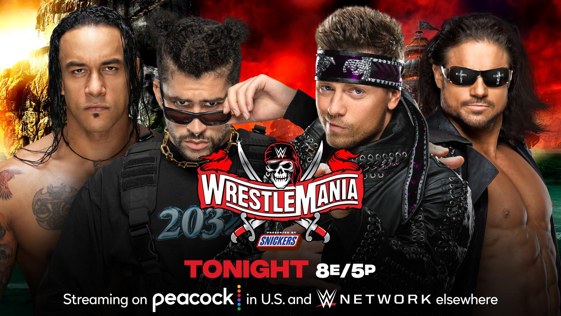 WrestleMania 37. The Miz & John Morrison vs. Bad Bunny & Damien Priest