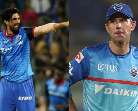 Ishant Sharma, Ricky Ponting Image Source : DELHI CAPITALS/GETTY IMAGES