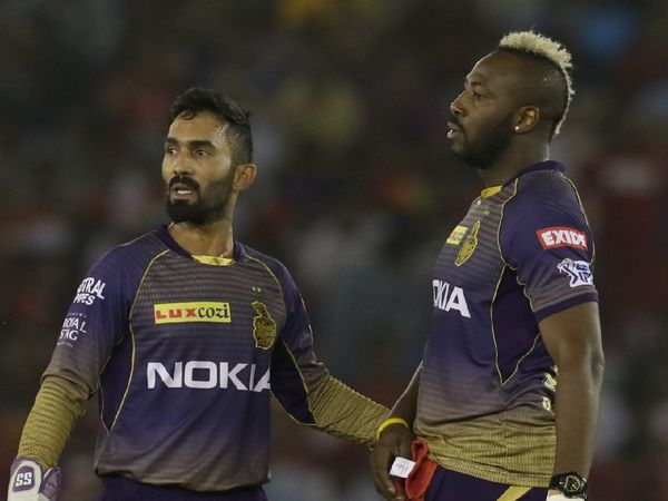 Dinesh Karthik and Andre Russell | IANS