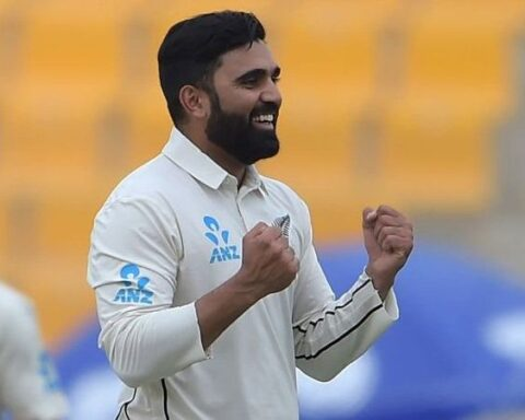 Ajaz Patel was named the Man of the Man against Pakistan (Photo Credit: ICC/Twitter)
