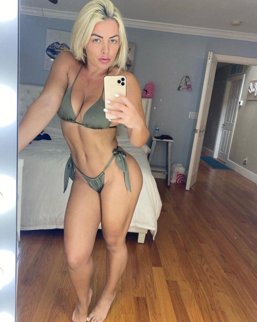 Photos: Mandy Rose Watched WWE Wrestlemania Backlash 2021 In Bikini 47