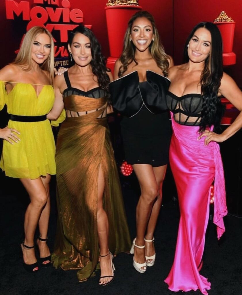 WWE's Brie And Nikki Bella Sizzles At 2021 MTV Movie & TV Awards Red Carpet 164