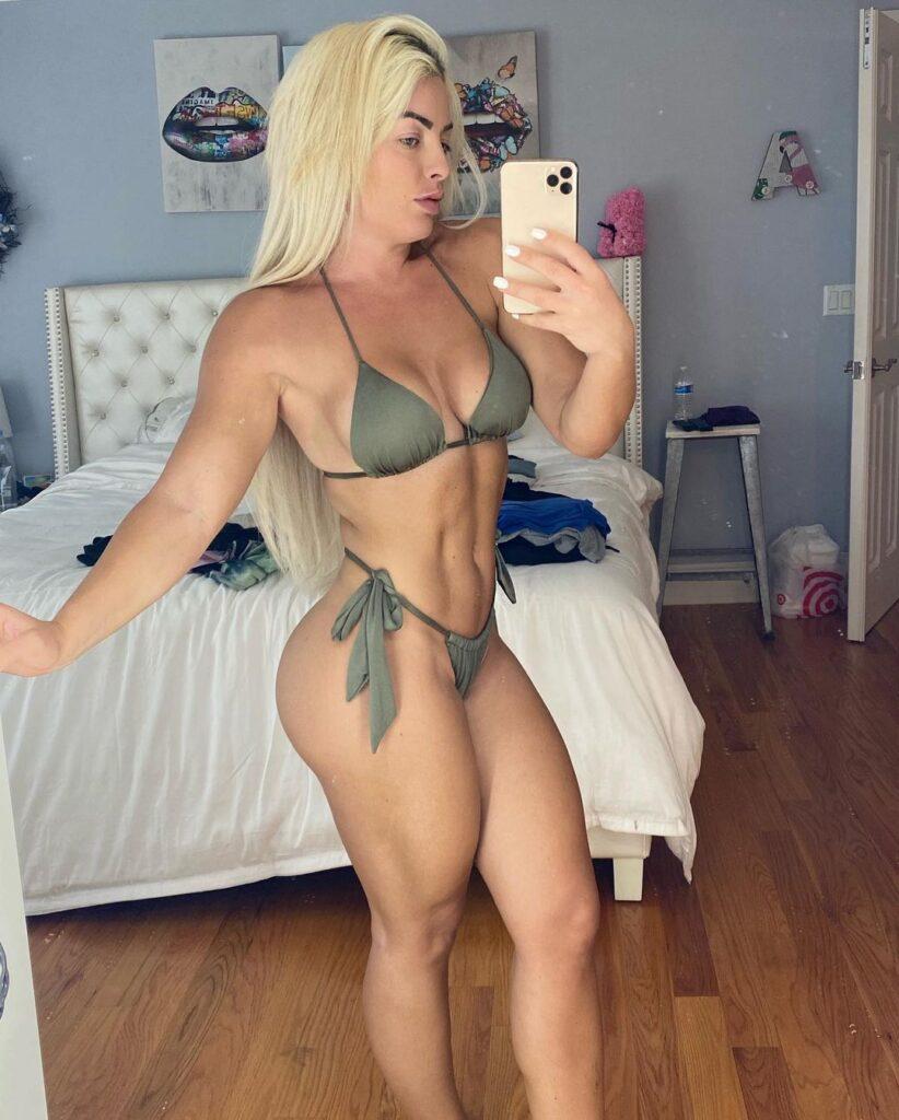 Photos: Mandy Rose Watched WWE Wrestlemania Backlash 2021 In Bikini 46