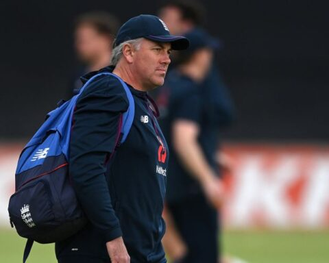 Chris Silverwood will hand over the reins to assistants Graham Thorpe and Paul Collingwood Getty Images