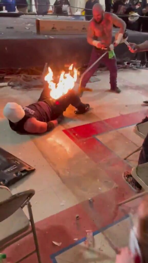 WWE/Indie News: Wrestling Star Sets His Opponent On Fire; See Videos 2