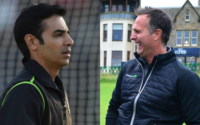 Salman Butt and Michael Vaughan. (Photo Source: Getty Images)