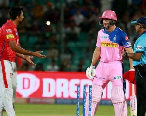 Jos Buttler was furious with the umpire's decision after being Mankaded by R Ashwin (BCCI Photo)