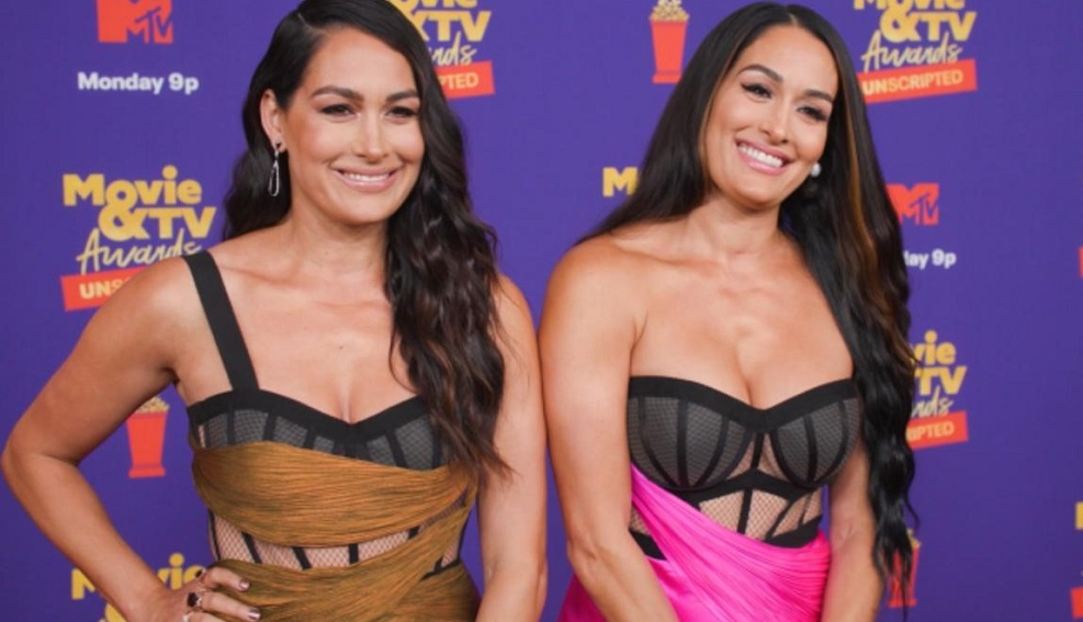 WWE's Brie And Nikki Bella Sizzles At 2021 MTV Movie & TV Awards Red Carpet 156