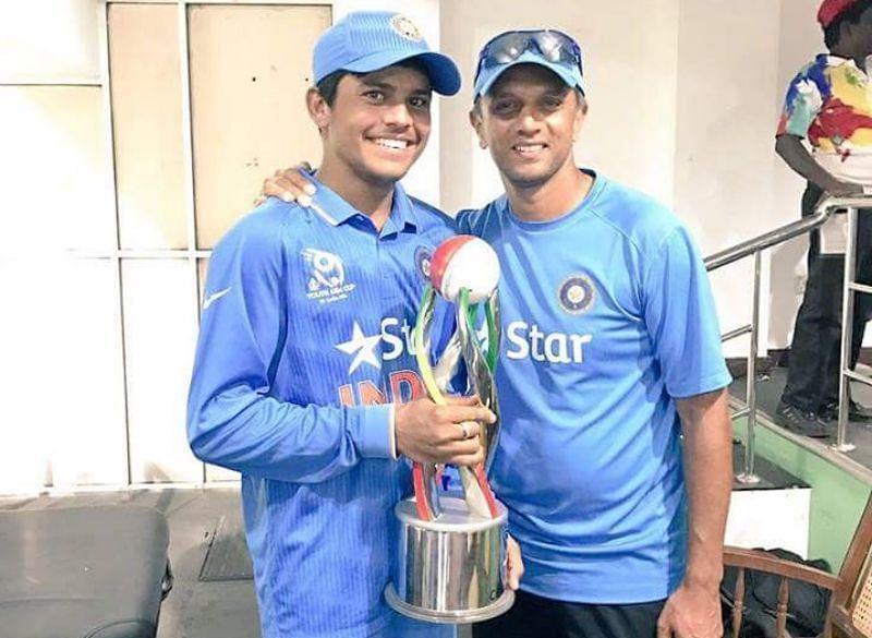Priyam Garg and Rahul Dravid. Pic: Twitter
