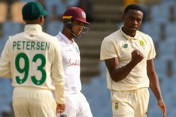 Kagiso Rabada ended with figures of 5 for 34 in the second innings AFP/Getty Images