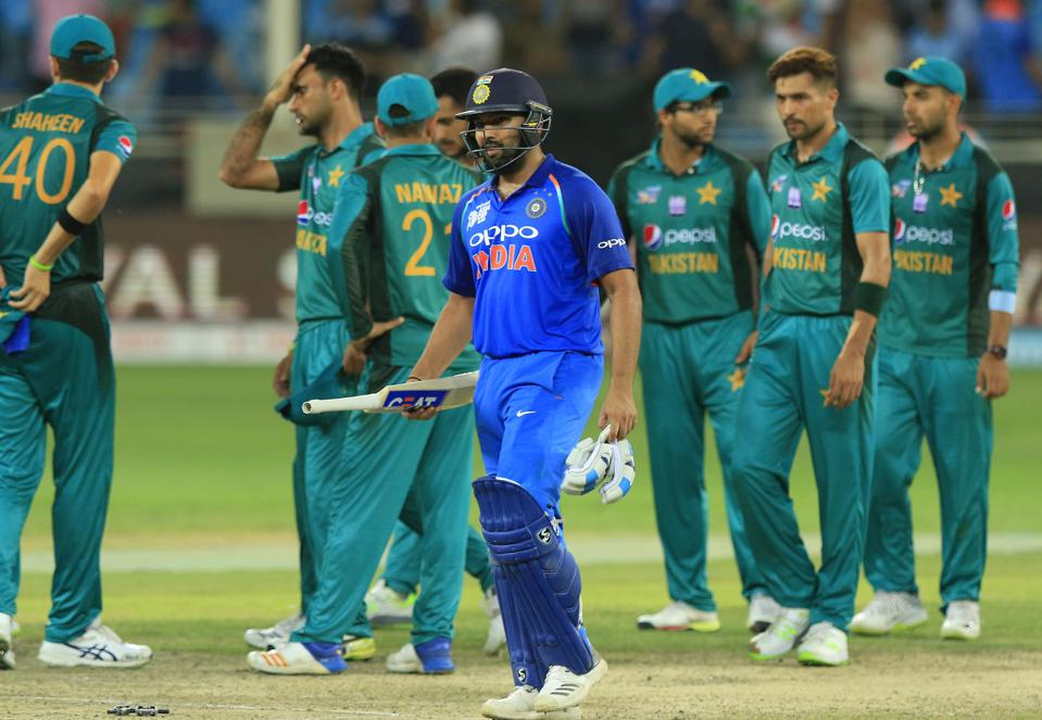 India and Pakistan rarely play against each other but have a heated rivalry. (Photo by Tharaka Basnayaka/NurPhoto via Getty Images) NURPHOTO VIA GETTY IMAGES