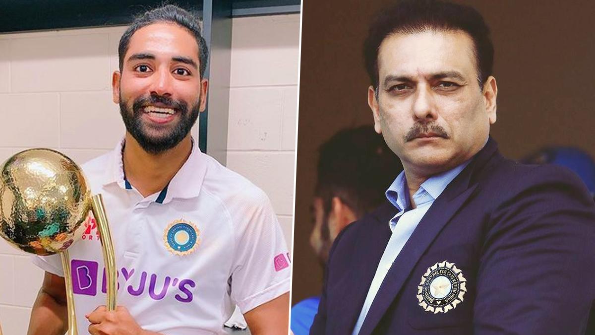 Mohammed Siraj and Ravi Shastri