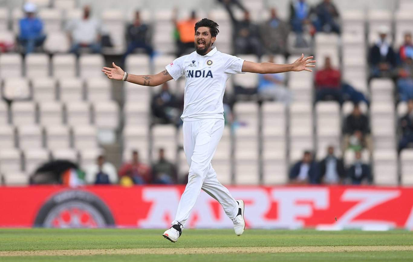 Ishant Sharma celebrates after dismissing Devon Conway [Image-Twitter]