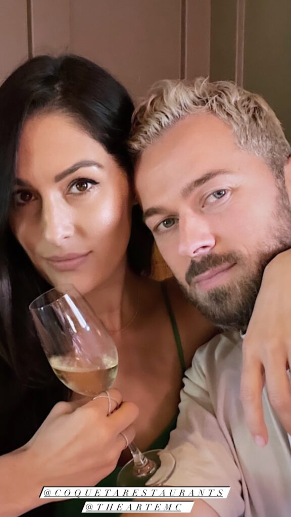 WWE Star Nikki Bella Gets Cozy With Her Papi Artem On A Date Lunch 94